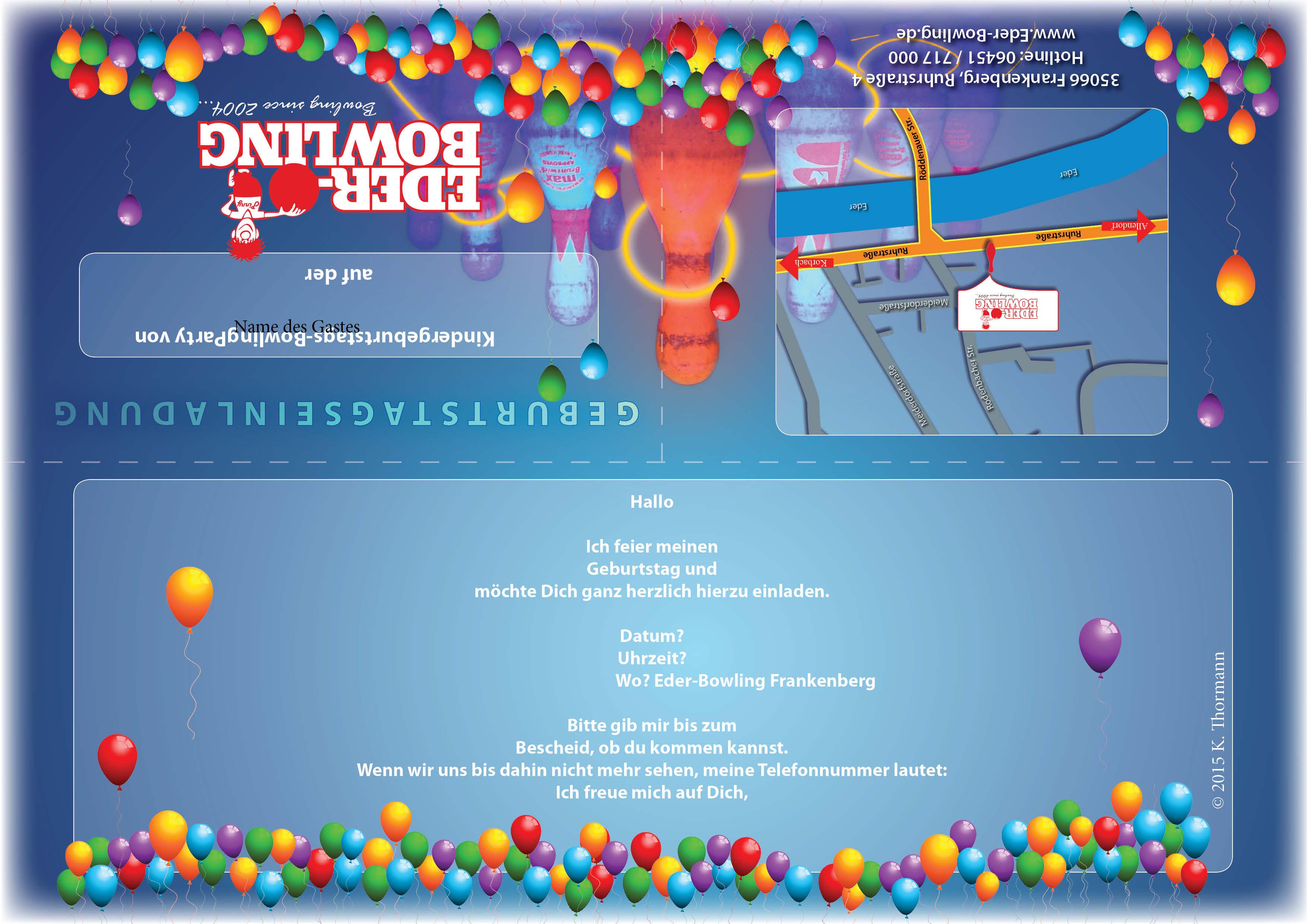 Einladung Zum Bowling: Eder-Bowling Frankenberg